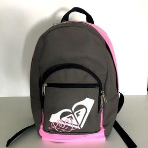 NWOT Roxy Girls Backpack.Pink and Grey colour